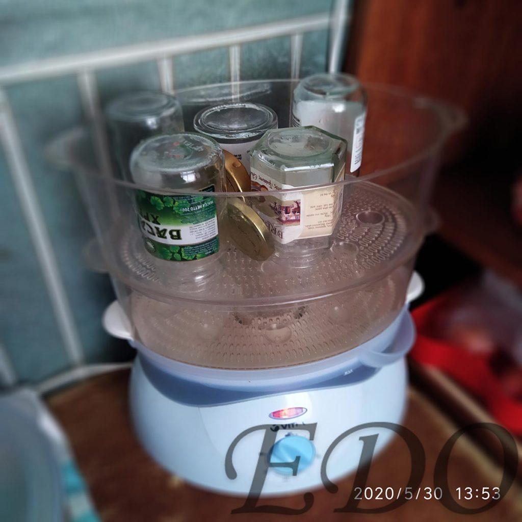Стерилизация банок для меда из одуванчиков
