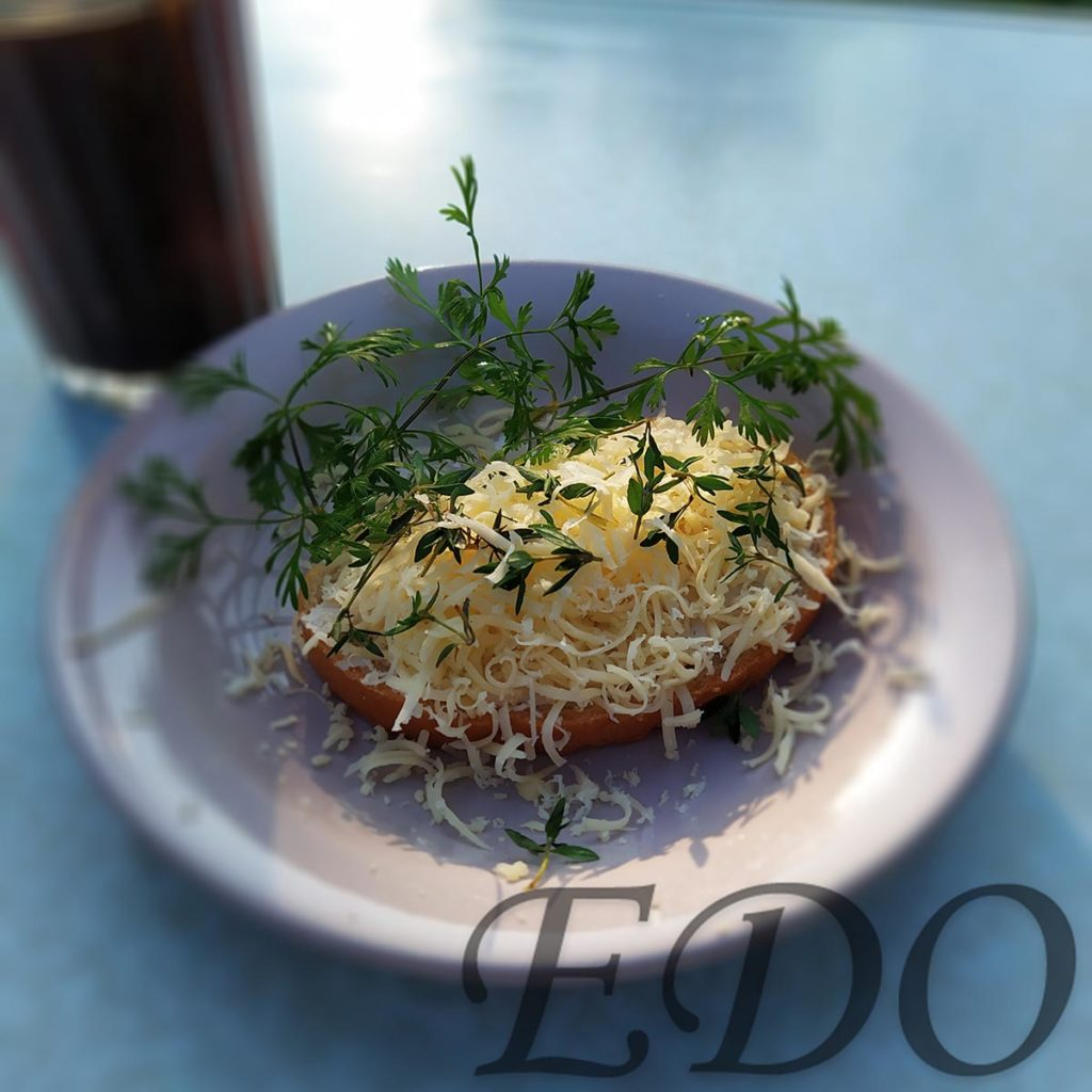 Бутерброд «Сырно-чабрецовый» - чабрец красиво
