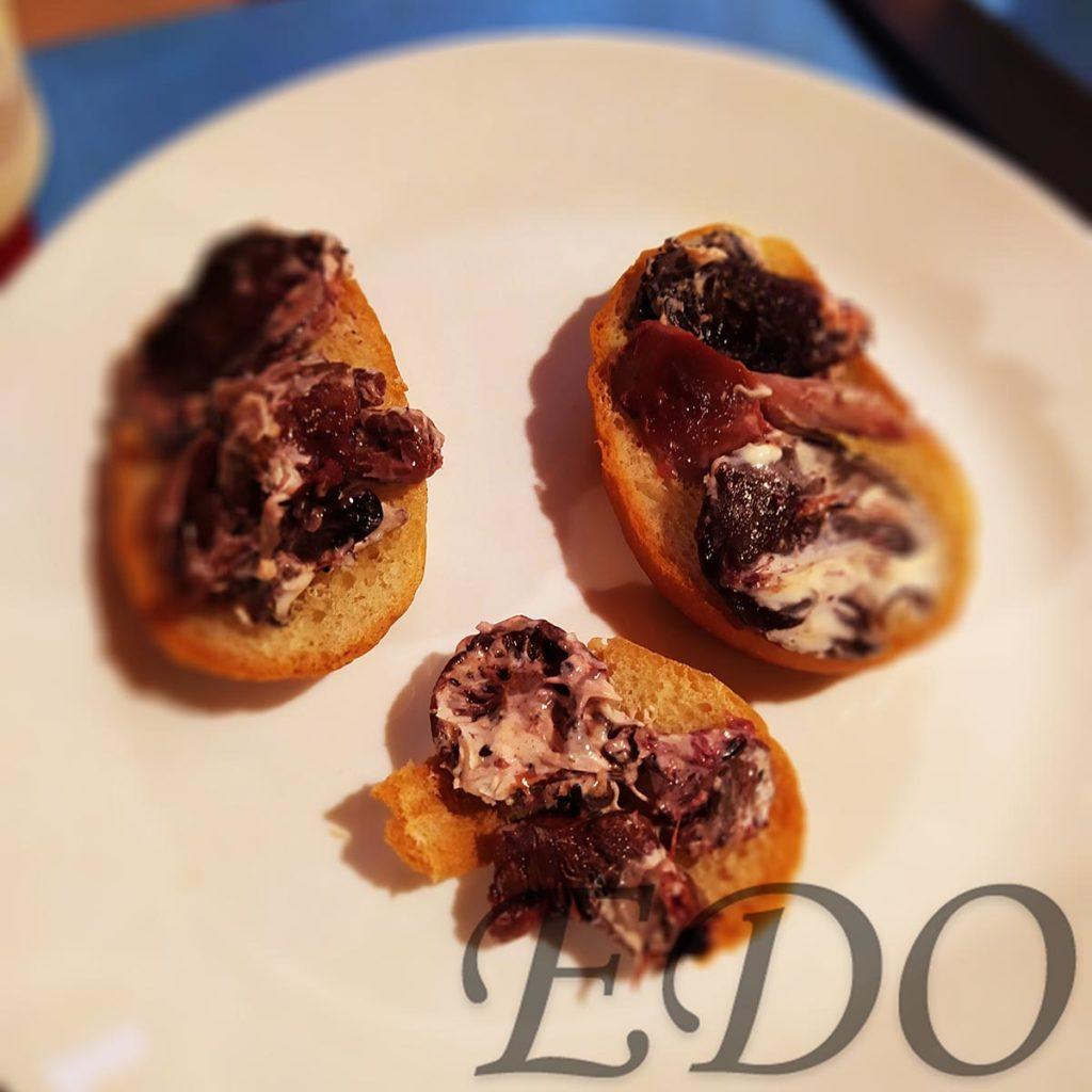 Бутерброд «Грибной» - батон и грибы