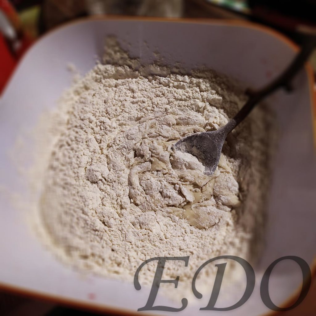 Пирог бруснично-маковый «Плетёнка» замес теста