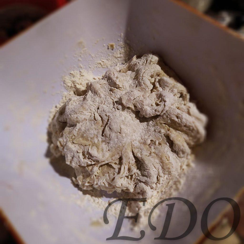 Пирог бруснично-маковый «Плетёнка» замес теста два