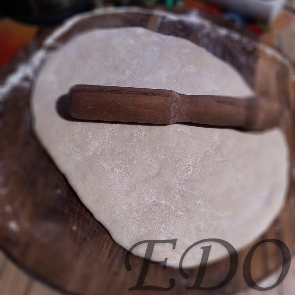 Пирог бруснично-маковый «Плетёнка» корж раскатанный