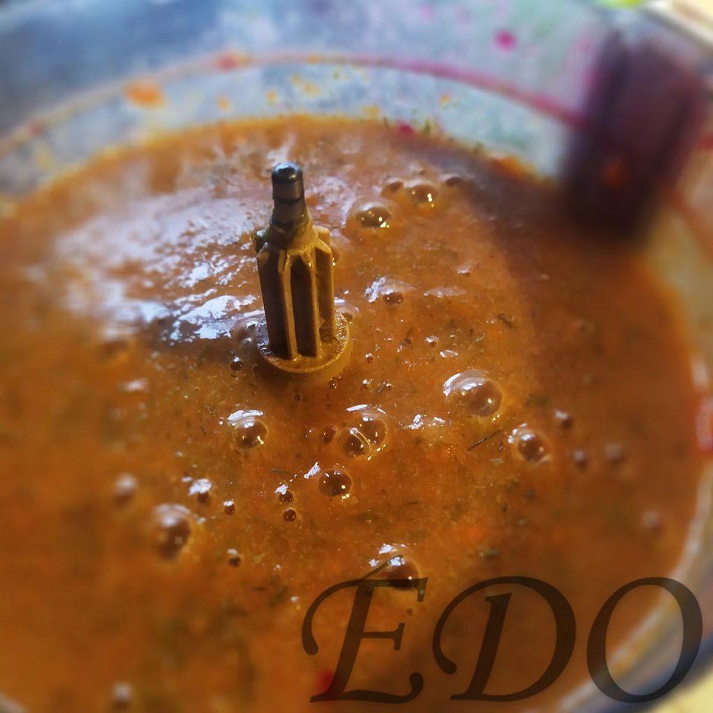Постный суп «МоркваРис» вареные в блендере готово