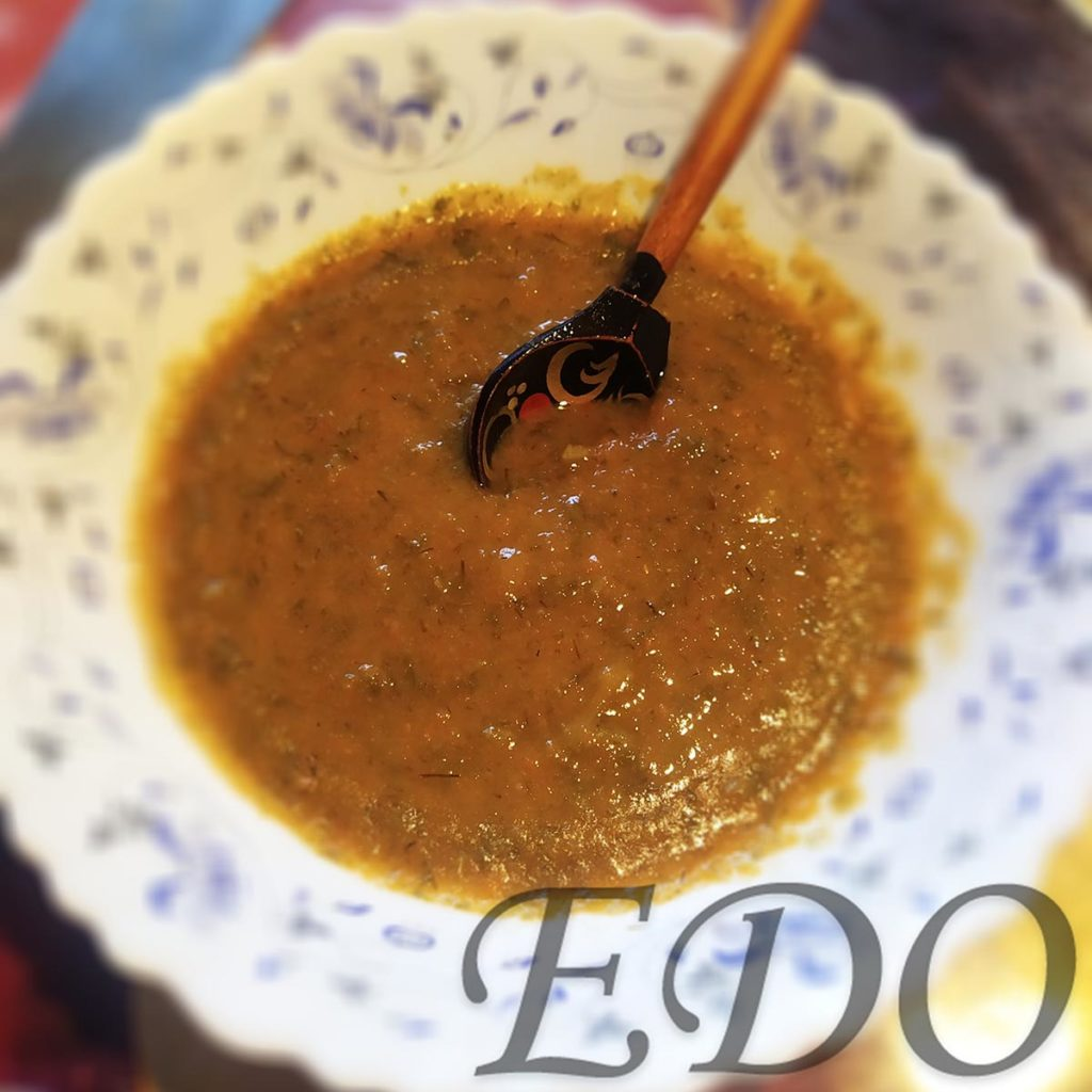 Постный суп «МоркваРис» пюре