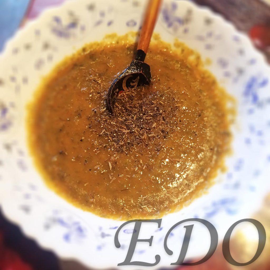 Постный суп «МоркваРис» пюре с перцем