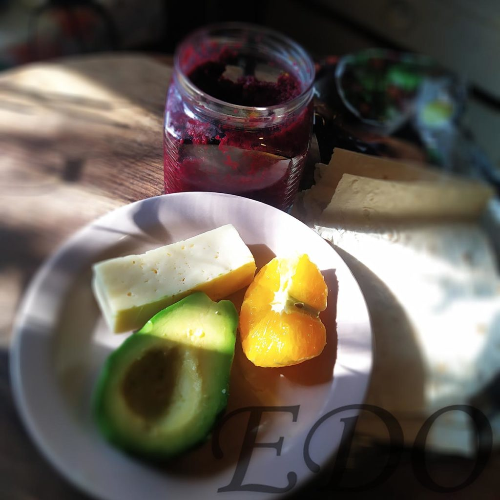 бутерброд «Трио фруктово-овощное» состав 2