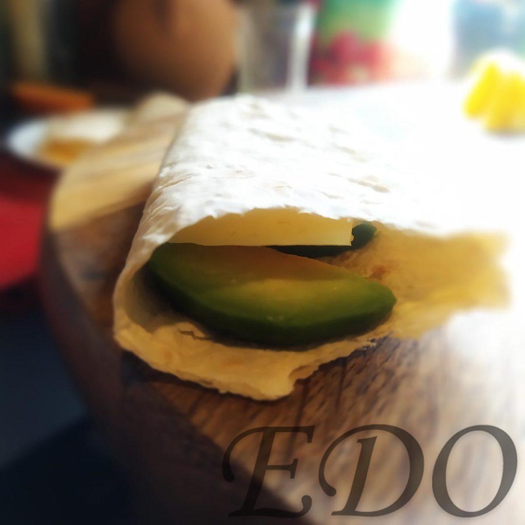 бутерброд «Трио фруктово-овощное» авокадовый слой
