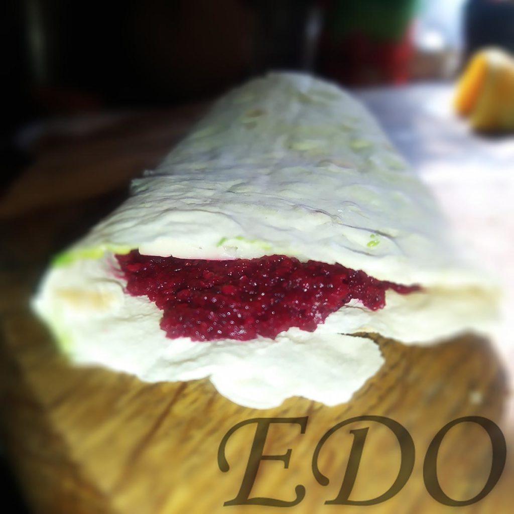 бутерброд «Трио фруктово-овощное» свекольный слой