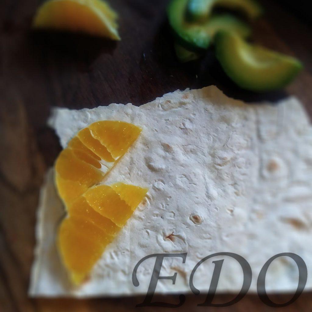 бутерброд «Трио фруктово-овощное» апельсиновый слой - первый