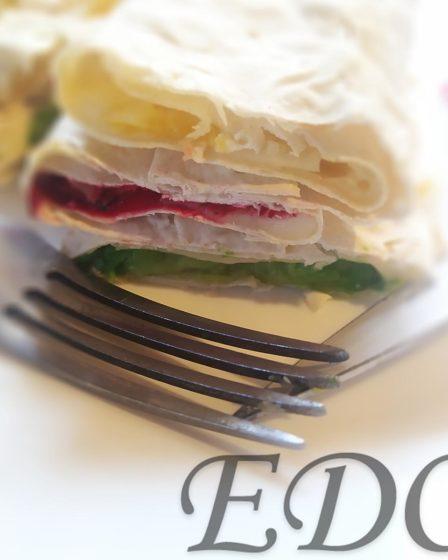 бутерброд «Трио фруктово-овощное» слоями вкусно