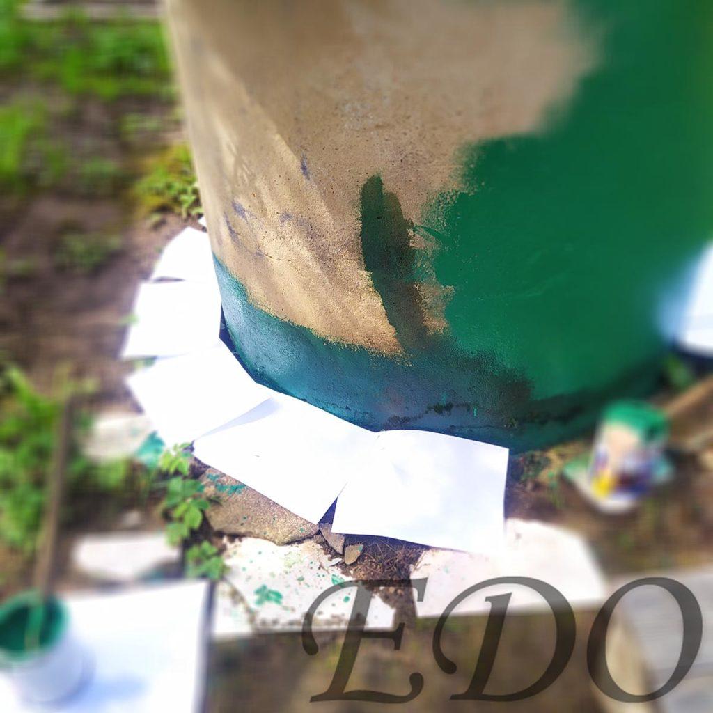Колодец на даче покраска низ